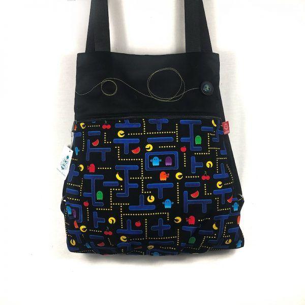 Mochila tela estampado Pacman