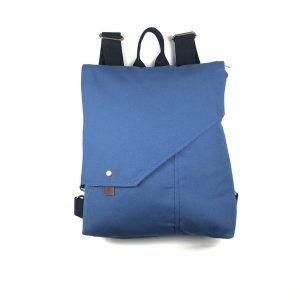 Mochila bolso tela Azul Prusia