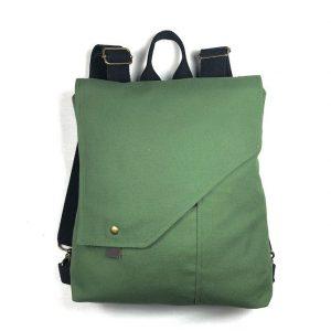 Mochila bolso tela Verde Fresco