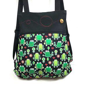 mochila de tela rana mochila tela handmade MBC11