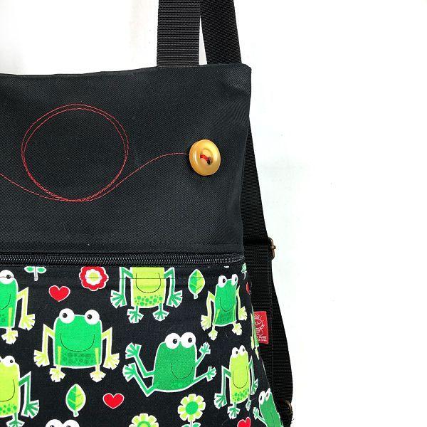 mochila de tela ranas - 1