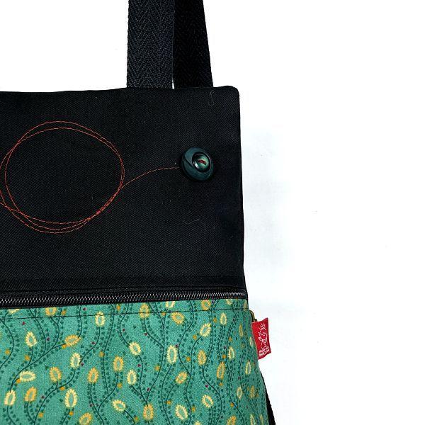 mochila tela handmade MBC04 bicha natacha detalle