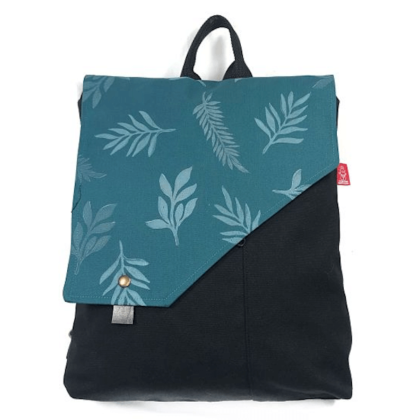 mochila handmade en tela reciclada la bicha creativa - Radiant ok