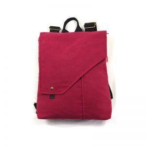 mochila sostenible pink yarrow
