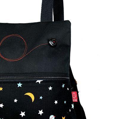 mochila tela handmade MB020 de mujer Deli detalle