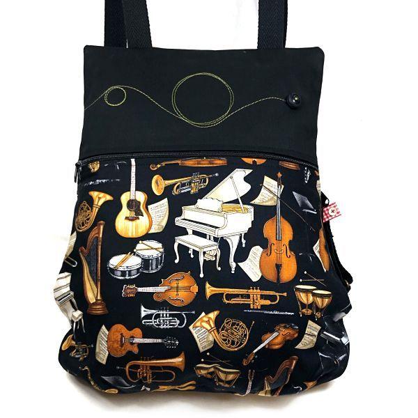mochila tela handmade MB032 music