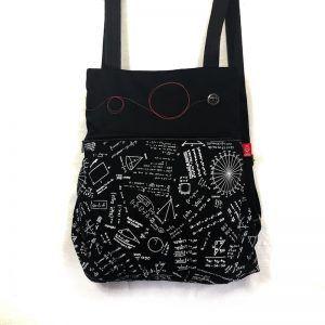 mochila tela handmade geometric