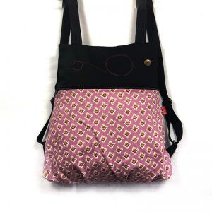 mochila tela handmade london rose