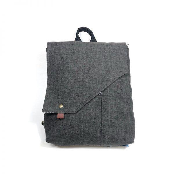 mochila bolso gris sport mnk08