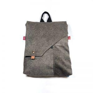 mochila bolso tela verde seco mnk01