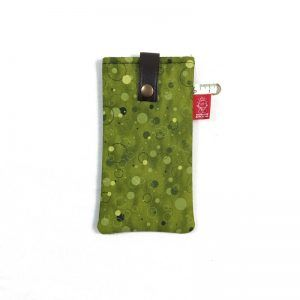 Funda de tela verde