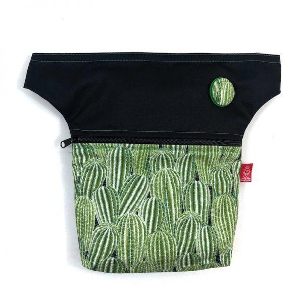 Riñonera de tela cactus