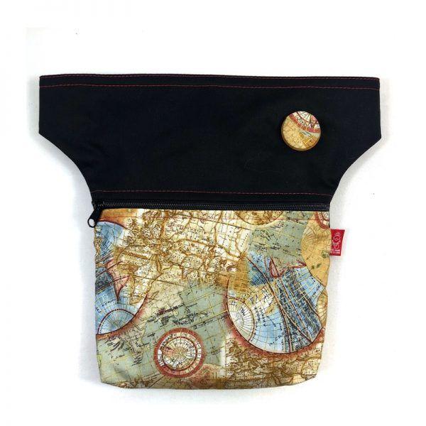 Riñonera handmade barcelona mapas