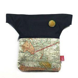 Riñonera handmade sostenible Barcelona con tela estampada La Bicha Creativa
