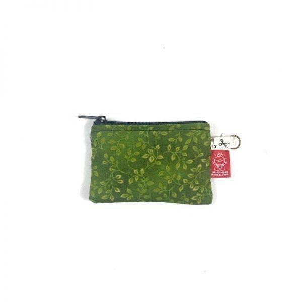 mini monedero verde handmade