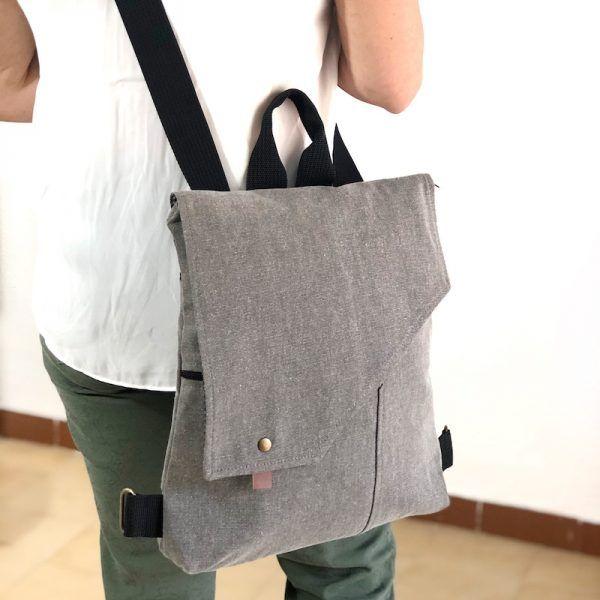 mochila bolso de tela bonita