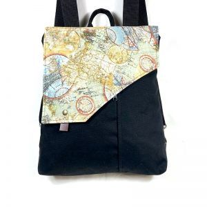 mochila bolso de tela estampada