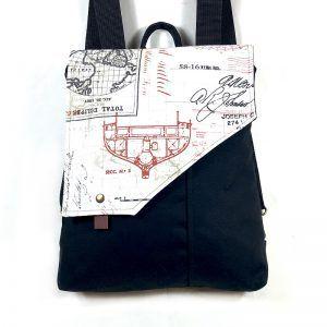 mochila bolso estampada handmade