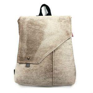 mochila bolso tela reciclada hecha a mano La Bicha Creativa - Rustic