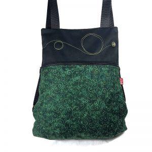 mochila de tela alegre