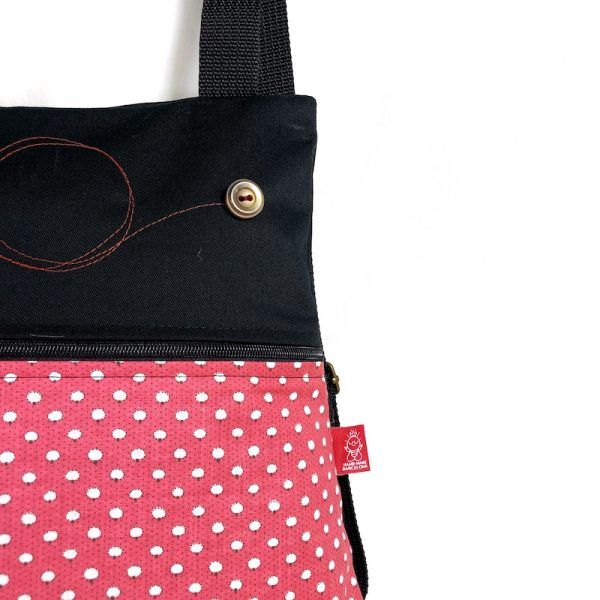 mochila de tela algodón detalle