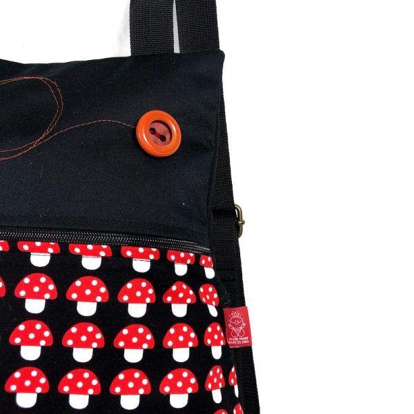 mochila de tela divertida detalle