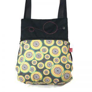 mochila de tela femenina