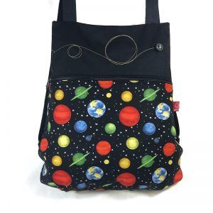 mochila de tela universo