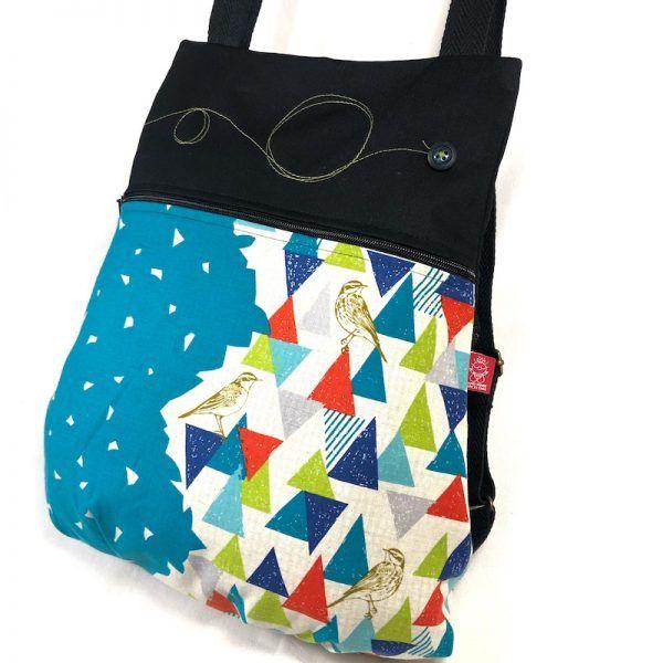 mochila handmade de tela vista