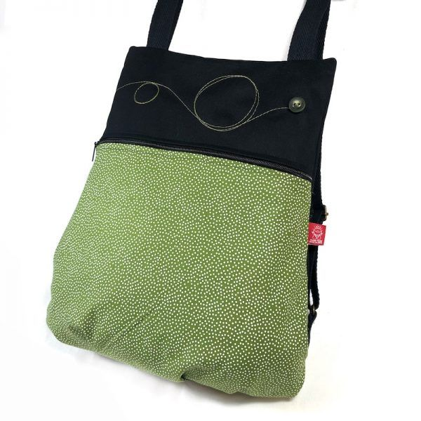 mochila hecha a mano topos vista