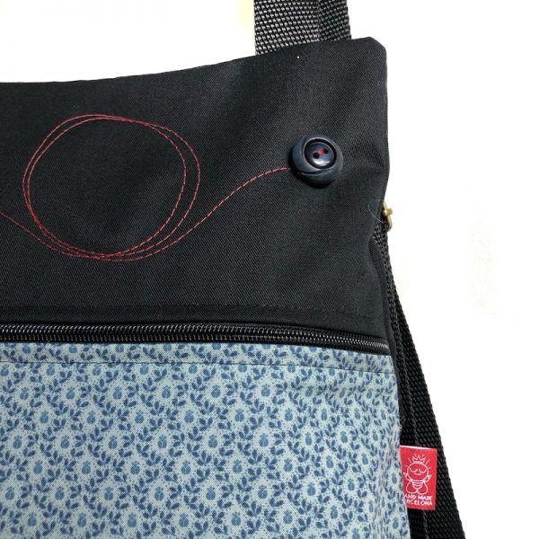 mochila liviana de tela detalle