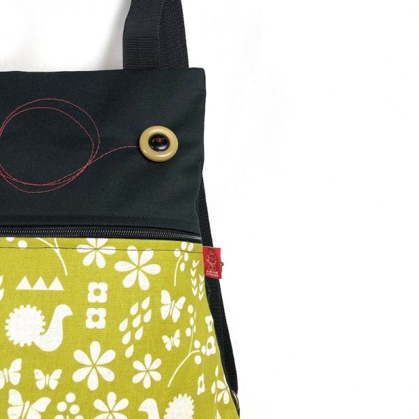 mochila tela handmade mbc08 detalle