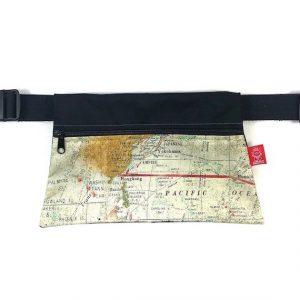 riñonera hecha a mano mapas