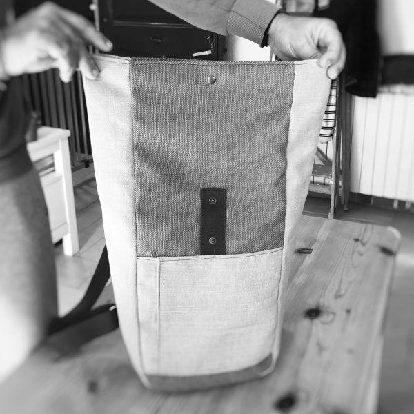 mochila enrollable handmade