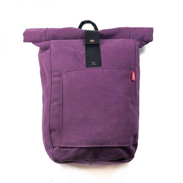 mochila enrollable moda ética