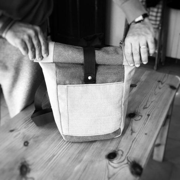 mochila hecha a mano enrollable Max