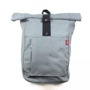 mochila artesana de tela - Cielo