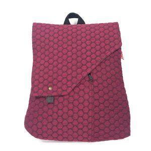 mochila de mujer tranformable en bolso hecho a mano La Bicha Creativa - Playa