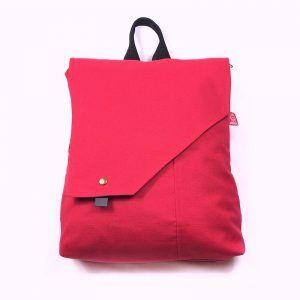 mochila roja handmade Barcelona