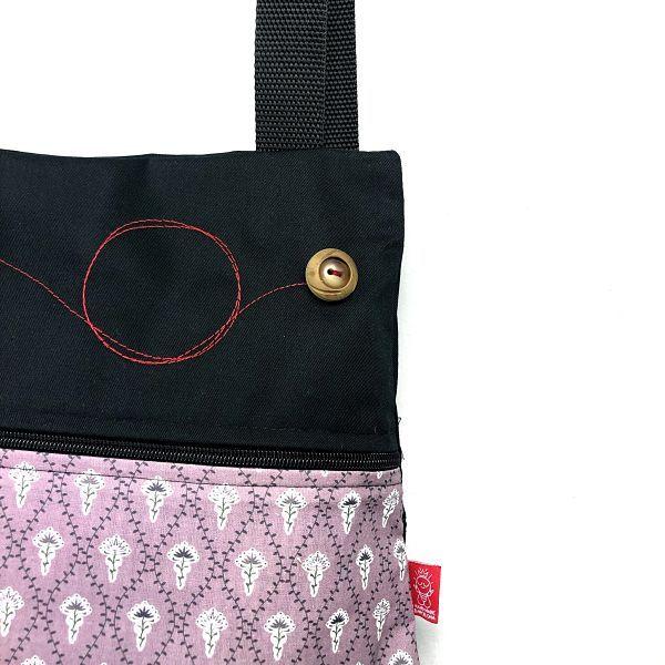 mochila de tela algodón - Leona - La Bicha Creativa - detalle