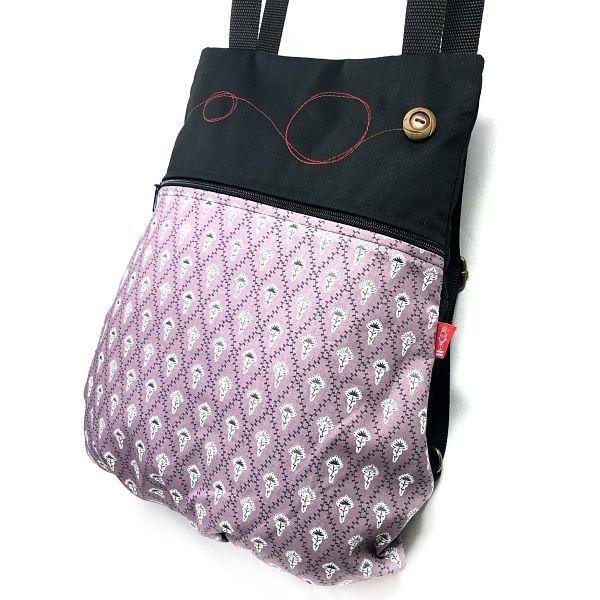 mochila de tela algodón - Leona - La Bicha Creativa - perfil