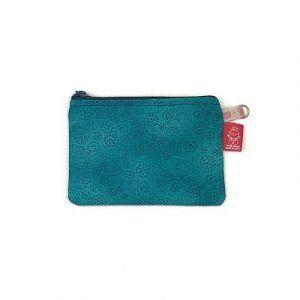 monedero de color turquesa hecho a mano la bicha creativa