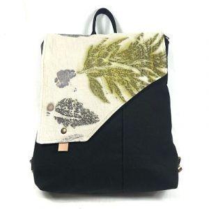 mochila para mujer con estampado eco print